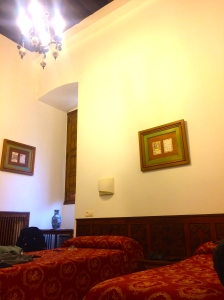 Our humble room at the monastery...where monks used to live!